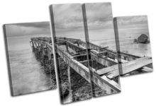 Abandoned Pier Sunset Seascape - 13-0375(00B)-MP17-LO